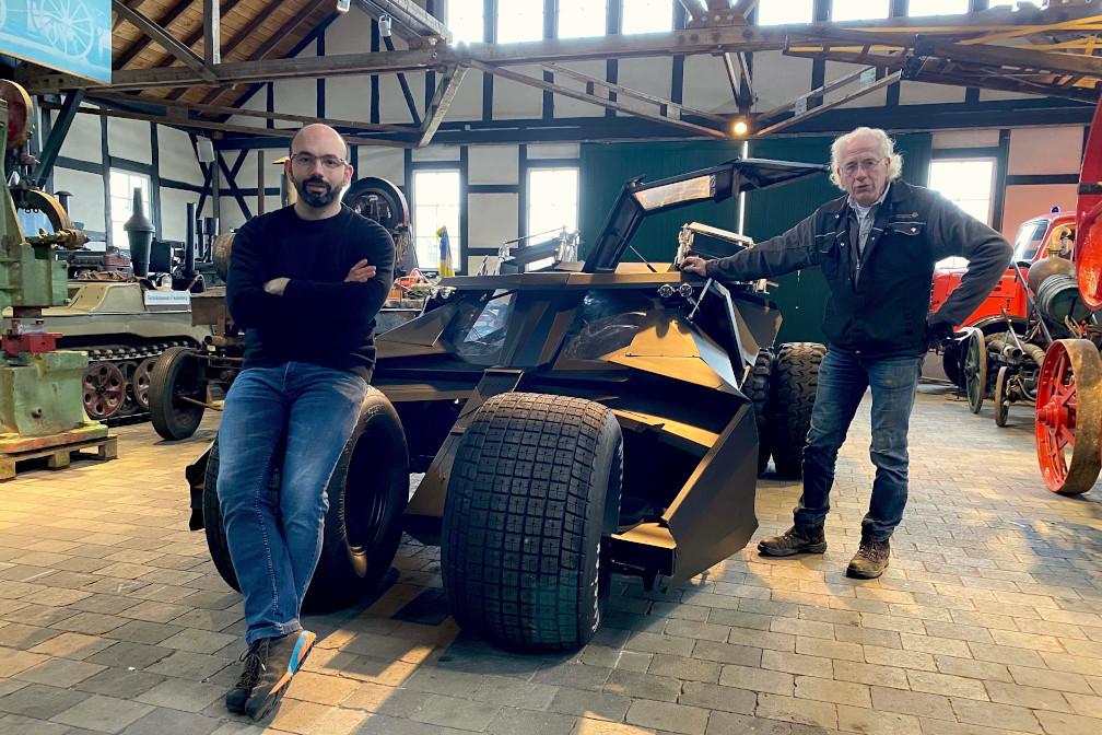 Alexader Fischbach und Wolfgang_Denker vor Tumbler